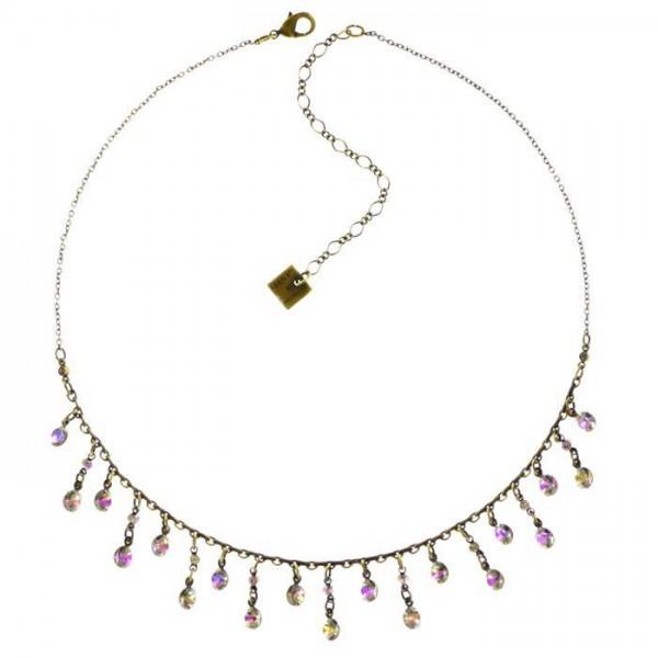 Konplott Tutui weiß rose farbene Halskette mit 19 Swarovski Elements
