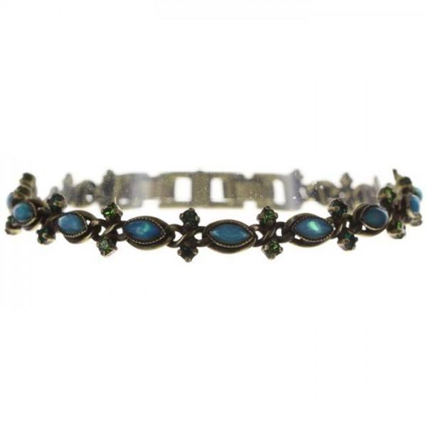 Konplott Mini Treasure Armband in dunkelgrün