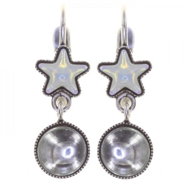 Konplott Sternentaler Ohrringe weiß