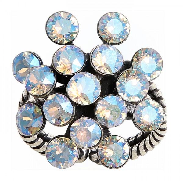 Konplott Magic Fireball Ring weiß braun