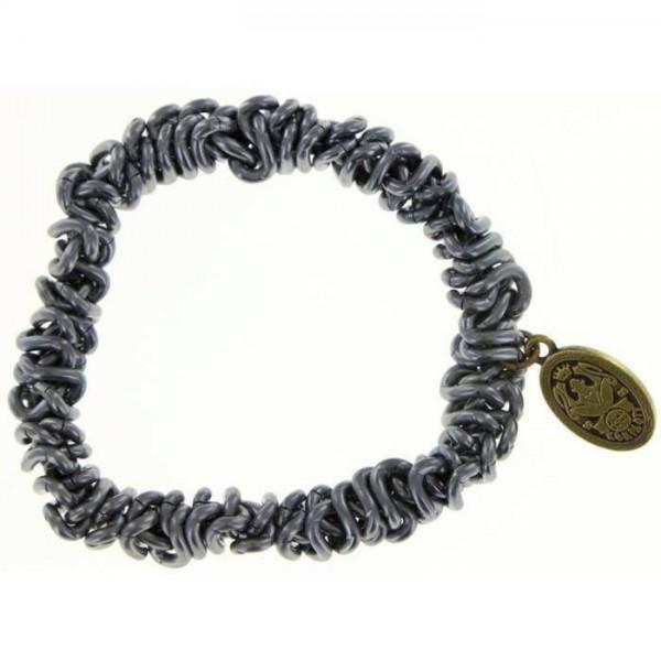 Konplott Bead Snakes elastisches graues Armband