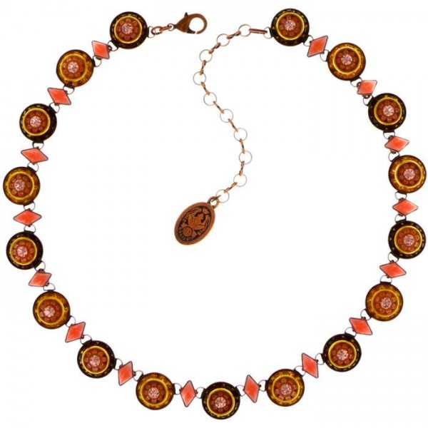 Aufwendig gearbeitete Konplott Halskette mit 17 Swarovski Elementen
