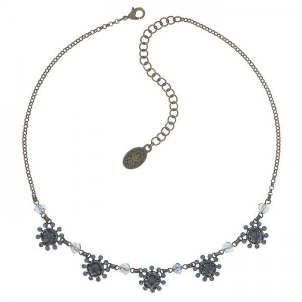 Pool Side Flower Halskette von Konplott mit 5 blauen Elementen