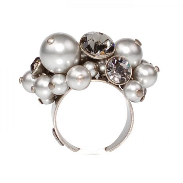 Konplott Pearl Shaddow grauer Ring