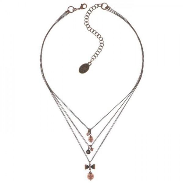 Konplott Pearl ´n´Ribbons trendige Halsette in pink