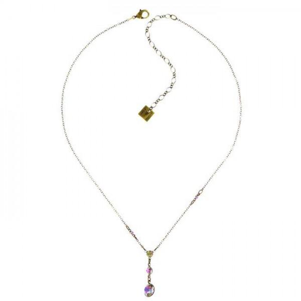 Konplott Tutui Halskette mit fünf Swarovski Elements in weiß rose
