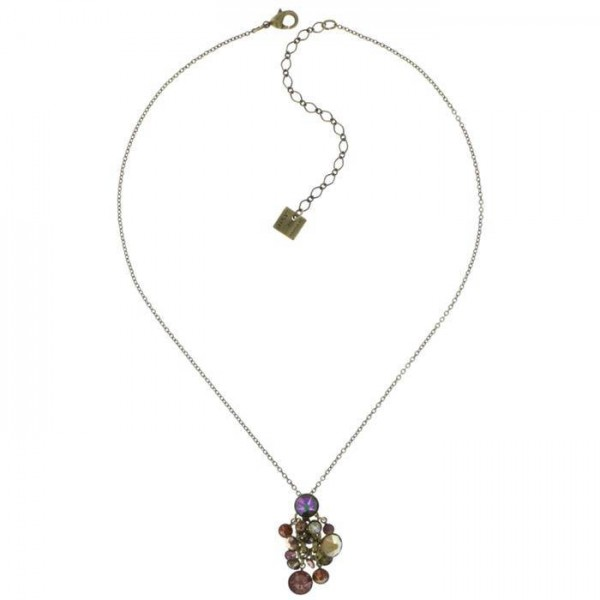 Konplott Waterfalls Halskette braun lila