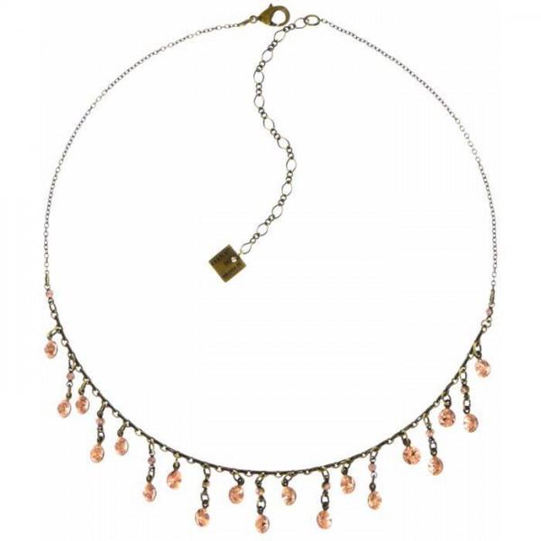 Konplott Tutui Halskette mit 19 beige farbenen Swarovski Elements