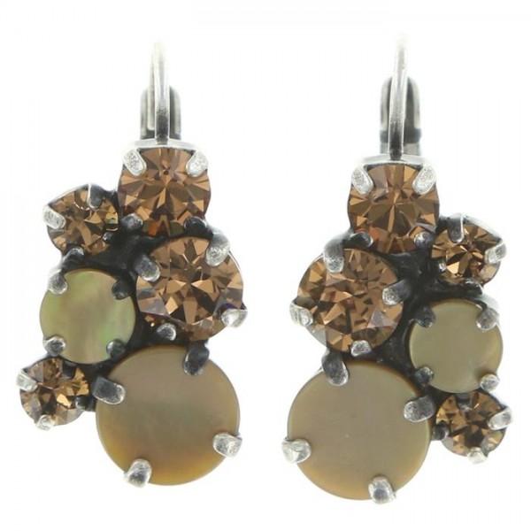 Elegante Konplott Ohrringe mit versch. Materialien