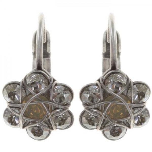 Konplott 70´s Circles Ohrringe in weiß