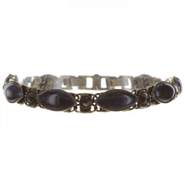 Konplott Dangling Navette Armband schwarz blau