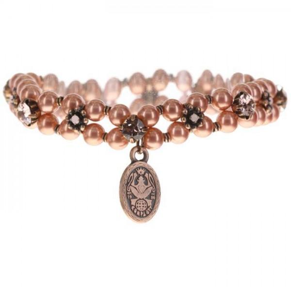 Konplott Pearl ´n´Ribbons elegantes Armband pink