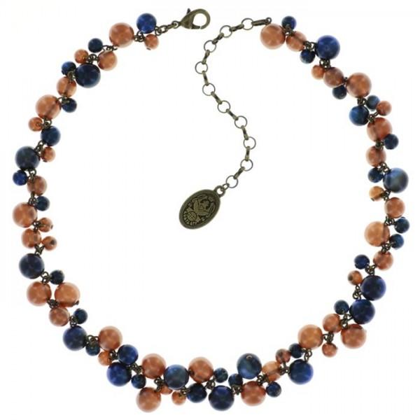 Konplott Caviar de Luxe Halskette blau braun