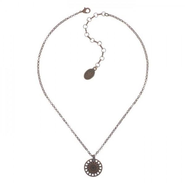 Rosone Halskette von Konplott in blau