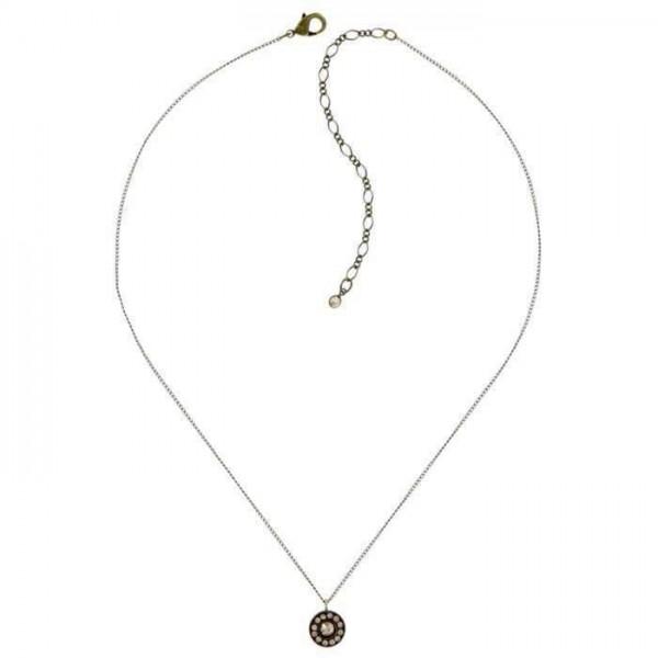 Konplott Spell on you Halskette erstrahlt mit 13 braunen Swarovski Elements