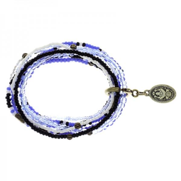 Konplott Petit Glamour d´Afrique Armband blau weiß