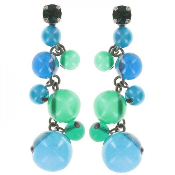 Konplott Caviar de Luxe Ohrhänger blau grün