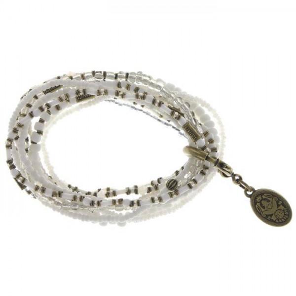 Konplott Petit Glamour d`Afrique elegantes Armband in weiß