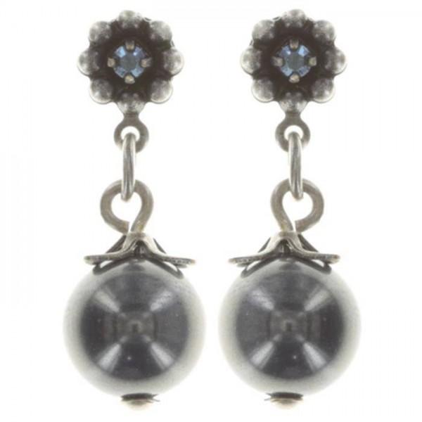 Konplott Pearl ´n´Ribbons schwarze schicke Ohrstecker