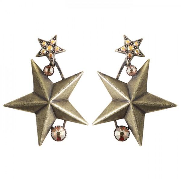 Konplott Dancing Star Ohrhänger braun